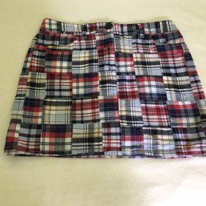 Loft Madras Plaid Skirt